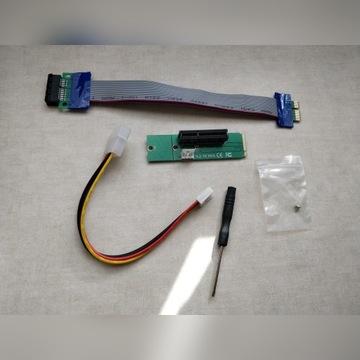 Przejściówka M2 do PCI-E plus przedłużka PCI-E