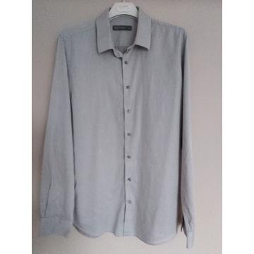 C&A L 41-42 koszula męska szaraslim fit bawełna