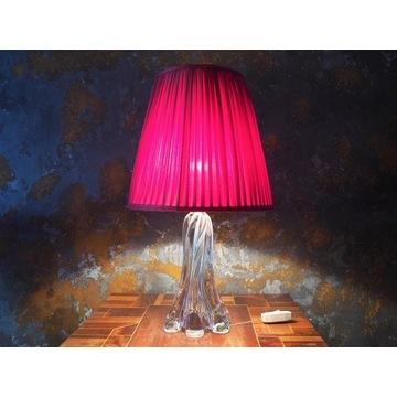 Lampa szklana podstawa Yannes de Chatel vintage