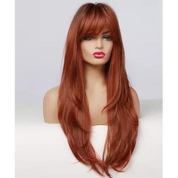 OSTATNIA Długie włosy ruda peruka jak naturalne