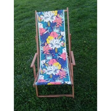 Leżak z podłokietnikiem Tropical kwiaty 6472393