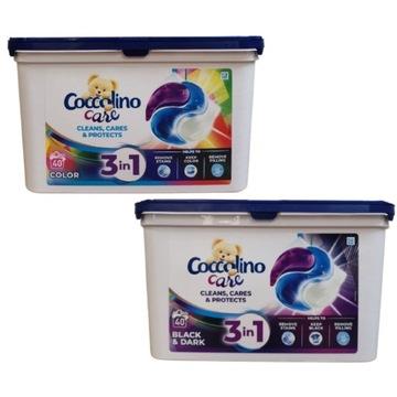 Coccolino kapsułki do czarnego black 3w1 2x40 szt