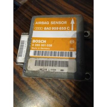 Sensor poduszek sterownik airbag AUDI 8A0959655C