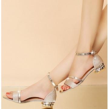 Modne damskie bling sandały nowa kobieta