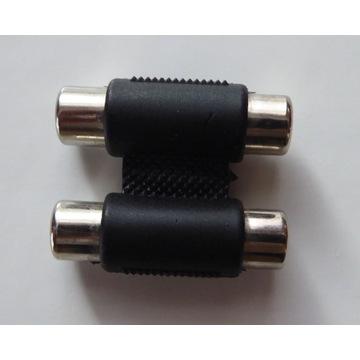 przejściówka adapter łącznik podwójny cinch 2x2RCA