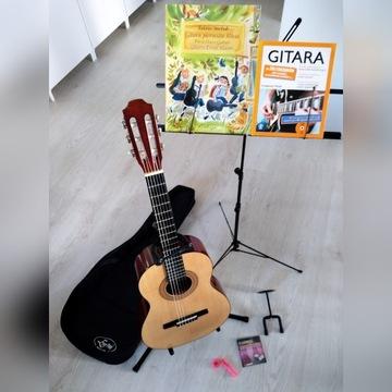 Gitara klasyczna 3/4 plus zestaw akcesoriów