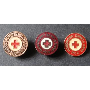 Honorowy Dawca Krwi PCK - 3 sztuki