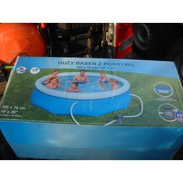 nowy duzy rozporowy basen z pompa i pokrywa