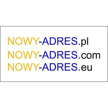 Domeny nowy-adres.pl nowy-adres.com nowy-adres.eu