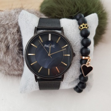 Zestaw zegarek PACIFIC + bransoletka z kamieni