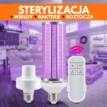Żarówka UV-C LED Zabija Bakterie Wirusy i Roztocza