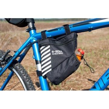 Dwukomorowa torba rowerowa pod ramę