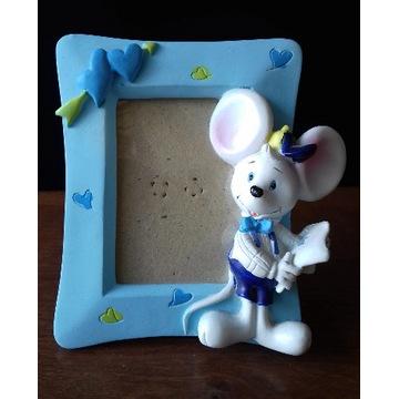 Ramka dla dziecka dziecięca na zdjęcie z myszką
