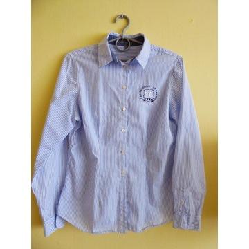 koszula Montego, długi rękaw, niebiesko-biała