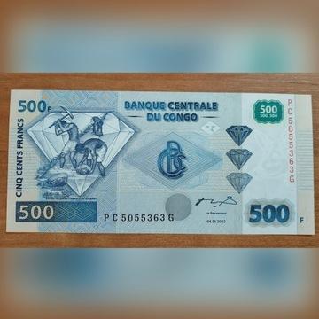 Kongo 500 Francs (2002) P-96a UNC