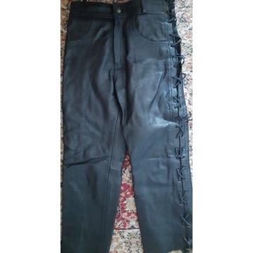 Spodnie skórzane sznurowane nowe