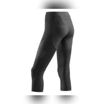 Profesjonalne spodnie do biegania CEPRun 3/4 3.0