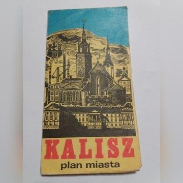Plan miasta Kalisz PPWK 1977