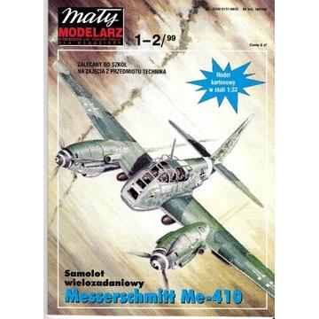 Mały Modelarz 1-2 1999 Me-410 Model samolot 1:33