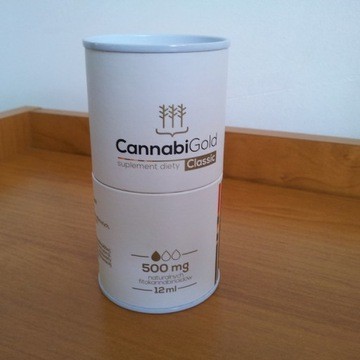 Olej konopny CANNABI GOLD CBD 500mg Classic 12ml