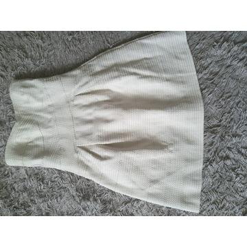Sukienka biała 40 mini midi bez ramiączek
