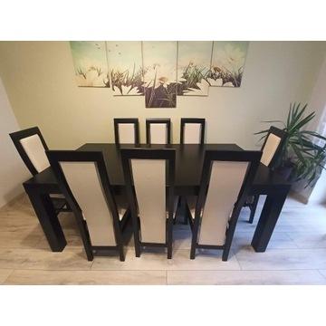 Stół 2000/1000 Fornir + 8 krzeseł