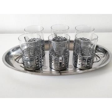 Koszyczki uchwyty na szklanki z tacą (11)