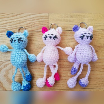 Breloczek kotek Szydełko handmade