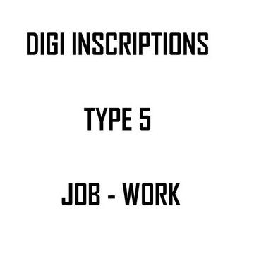 Digi napisy po angielsku - TYPE 5  - JOB WORK