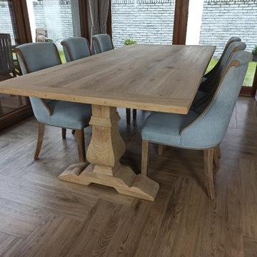 Stół dębowy Baron lity dąb 250/110