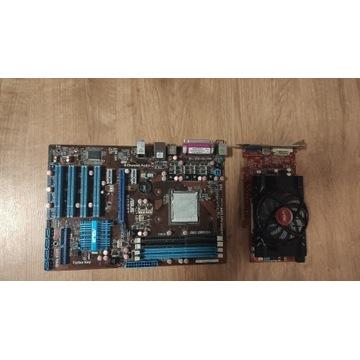 Karta graficzna 1GB DDR5 + Płyta M4N68T + DDR3 4GB