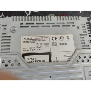 Radio samochodowe Sony CDX-GT33U