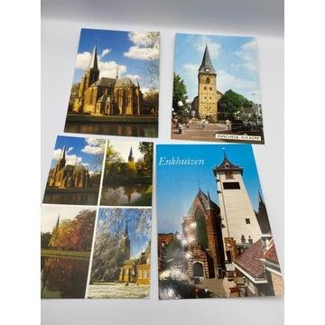 Zestaw 8 szt. pocztówek architekturą kościołów