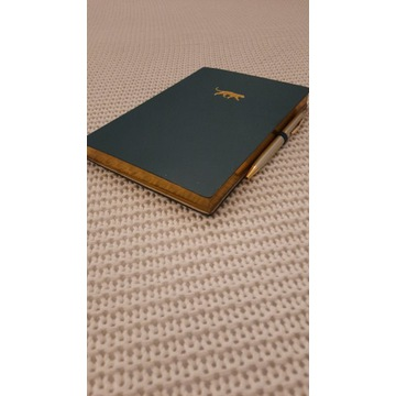 notatnik ozdobny ze złoconymi kartami