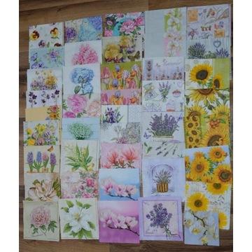 Zestaw serwetek kwiaty 80 szt
