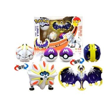 2 Figurki POKEMON, Solgaleo i Lunala + Pokeball x2
