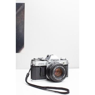 Canon AE-1 + Obiektyw Canon FD 50mm f1,8