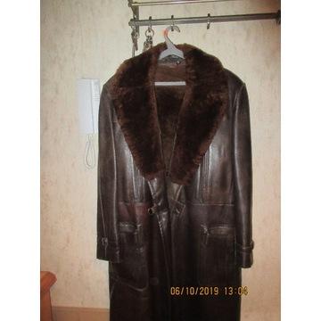 RETRO - Oryginalny płaszcz skórzany męski- z PRL