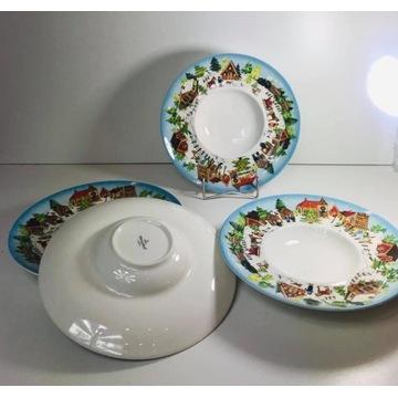 Porcelanowe talerze świąteczne  zacna porcelana