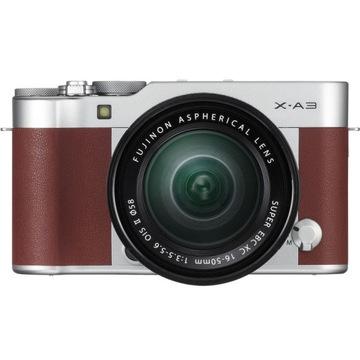 Fujifilm FinePix X-A3 + obiektyw 16-50 Brązowy