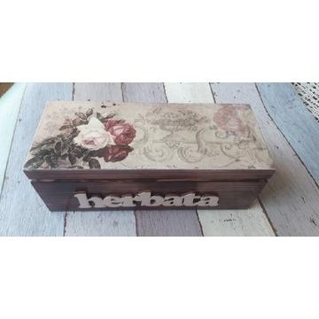 Herbaciarka pudełko na herbatę prezent
