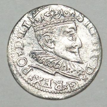 3 Grosze ZYGMUNT III WAZA  Ryga 1594