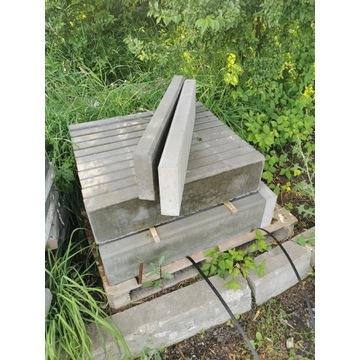 Obrzeże betonowe szare 6x20x75 cm NOWE