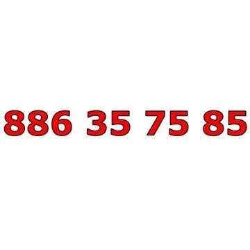 886 35 75 85 T-MOBILE ŁATWY ZŁOTY NUMER STARTER