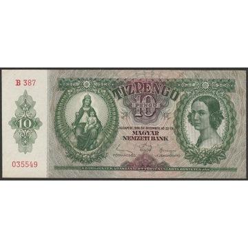 Węgry 10 pengo 1936 - B 387 035549 - stan 2