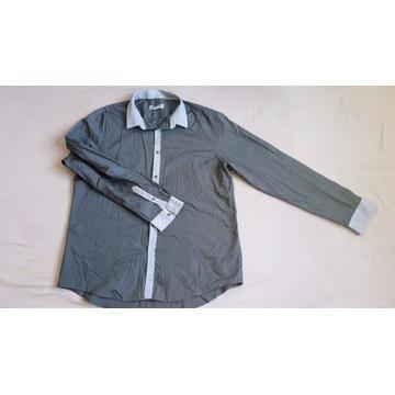 Koszula elegancka Burton London Rozmiar XL Czarna
