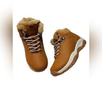Buty zimowe chłopięce ocieplane-trekkingowe