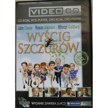 """FILM """"WYŚCIG SZCZURÓW"""" VCD, 2 PŁYTY, PUDEŁKO."""
