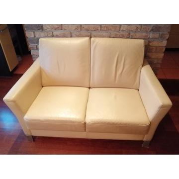 Sofa dwuosobowa Kler - naturalna skóra
