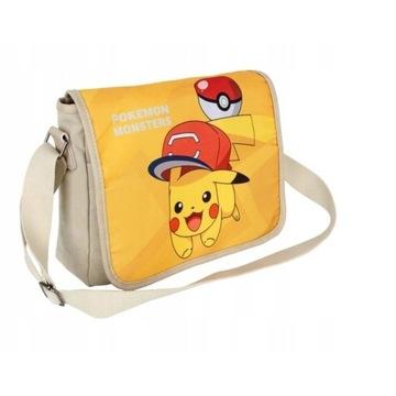 TORBA NA RAMIĘ Z KLAPĄ ANIME MANGA Pokemon Pikachu
